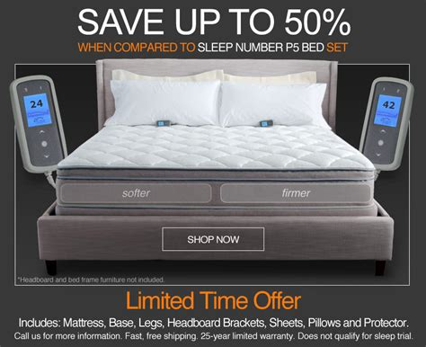 sleep number bed discounts save up to 2 528 over sleep number bed vs personal comfort bed sale