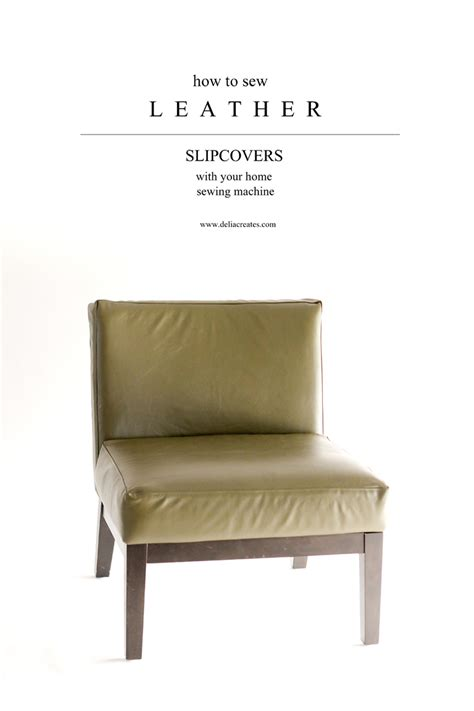 leather chair covers how to sew leather upholstery slipcovers with your home