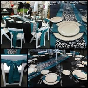 Wedding Vase Rental Damask Amp Teal Dan D Party Amp Rental