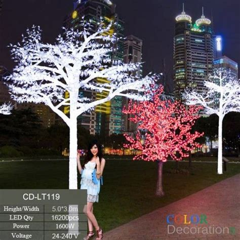 CD LT119 White Outdoor LED Lighted Trees Wedding