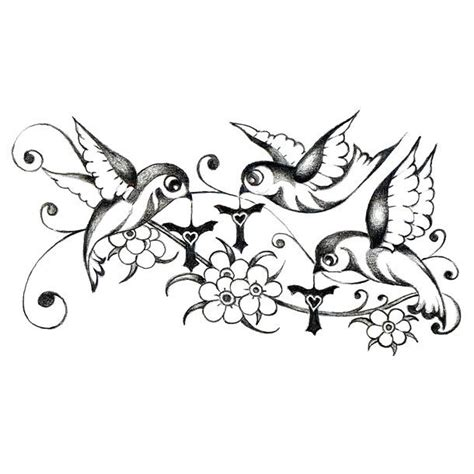Three Little Birds Tattoo Design 3 Birds Designs