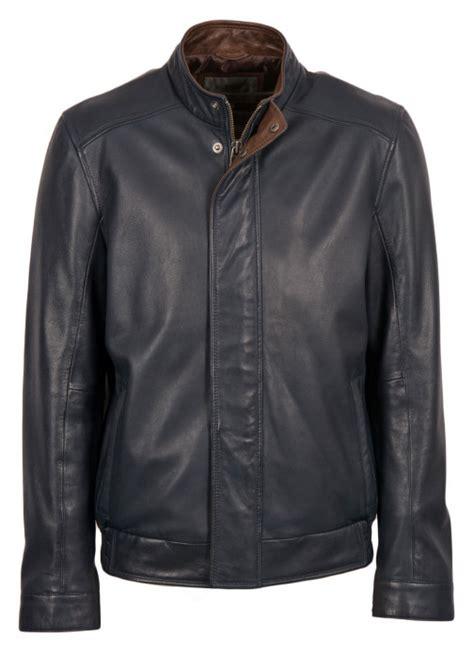 swinside leather bomber jacket  navy lakeland leather