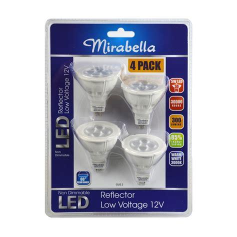 mirabella 5w 12v gu5 3 led globe 4 pack i n 4331045