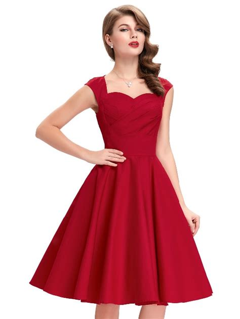 dress swing tiffany red sweetheart swing dress 1950sglam