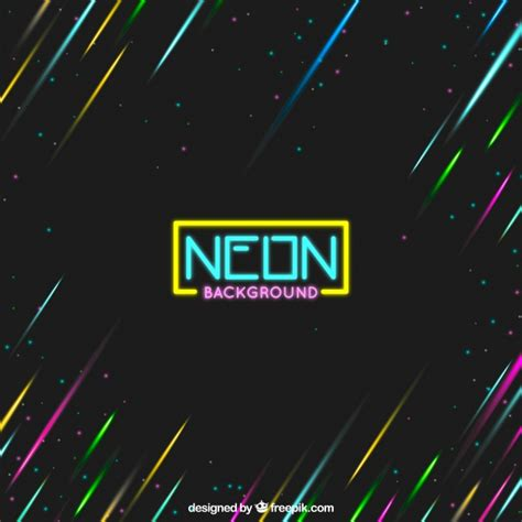 neon background neon background with colored lights vector free