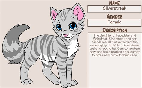 kitten maker design warrior cats silverstreak by prin pardus on deviantart