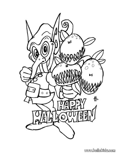 halloween monsters coloring pages 27674 bestofcoloring com