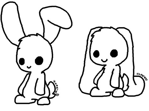 chibi bunny coloring pages how to draw chibi bunny