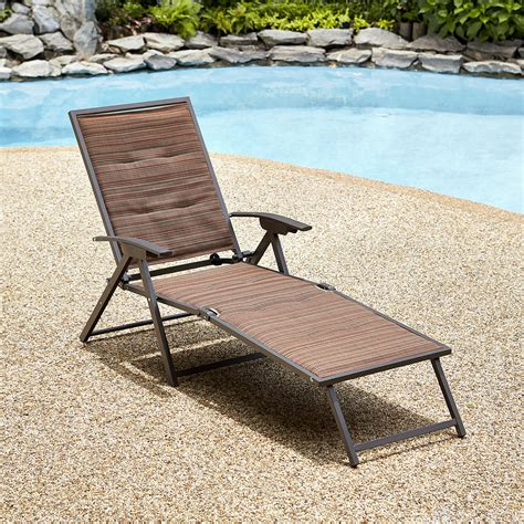 Patio Furniture Loungers by Garden Oasis Matching Folding Padded Chaise Palmetto