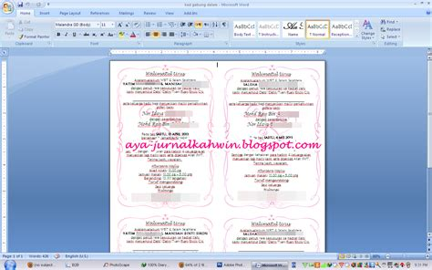 template buat undangan pernikahan template kad kahwin newhairstylesformen2014 com