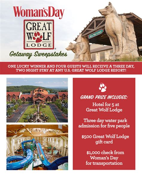 Great Wolf Lodge Sweepstakes - great wolf lodge getaway sweepstakes