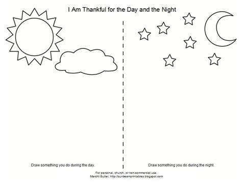 Day And Night Coloring Page For Kindergarten | day and night worksheets for kindergarten 1000 images