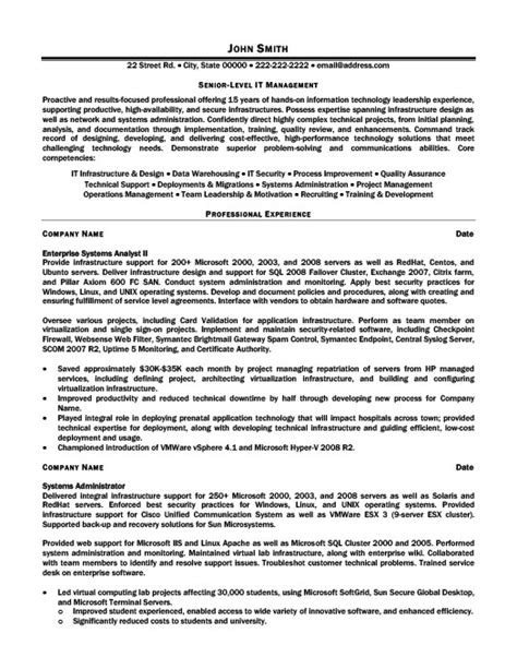 Senior Manager Resume Template by Senior Level It Manager Resume Template Premium Resume
