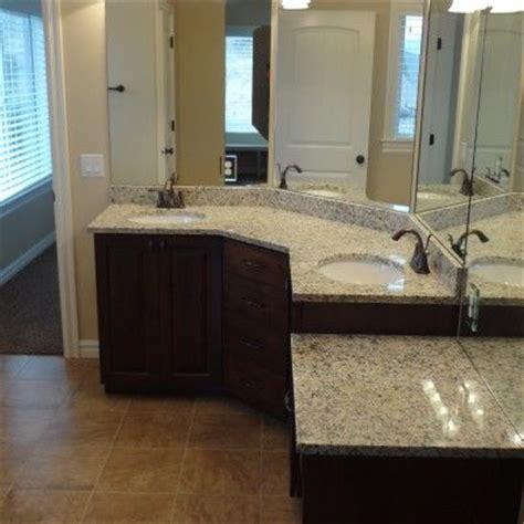 double sink corner vanity 17 best images about bathroom designs on pinterest