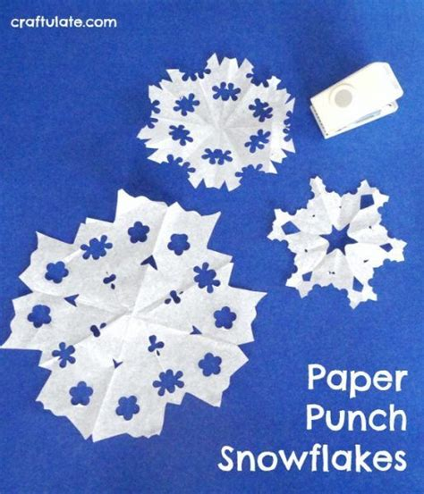 Paper Snowflakes For Preschoolers - paper punch snowflakes a winter craft for to make