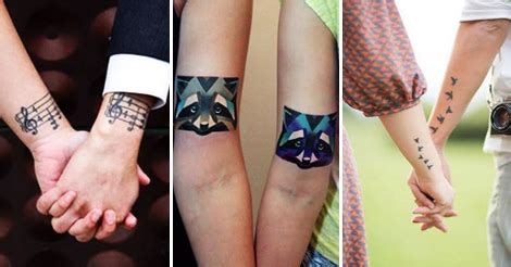 couple tattoo quiz 16 awesome matching tattoos of the most romantic couples