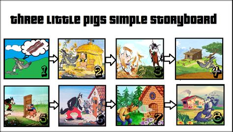 three stories three little pigs simple story board jorgeavelasco3rd