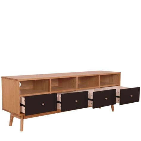 meuble tiroirs meuble tv scandinave 4 tiroirs skoll by drawer