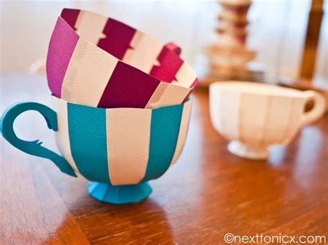 How To Make A Cup With Paper - paper tea cups 1 next to nicx