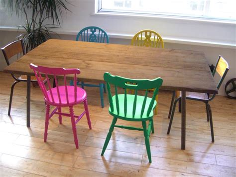colorful dining table 17 best ideas about industrial dining chairs on pinterest