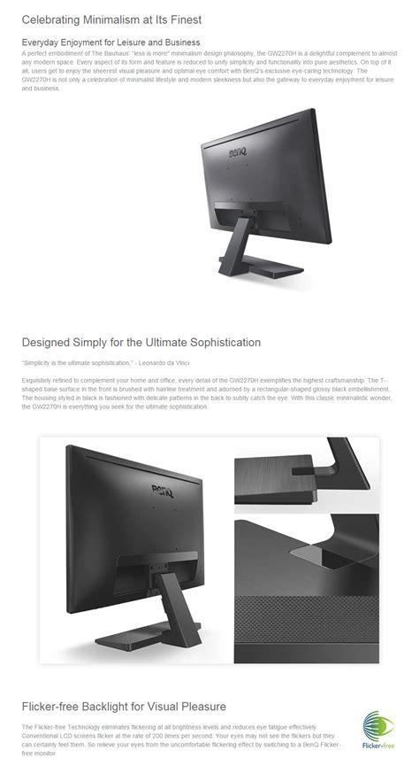 Monitor Lcd Led Benq Gw2270h Led 21 5 Inch Input Hdmi Vga benq gw2270h 21 5in widescreen va led monitor gw2270h pc gear