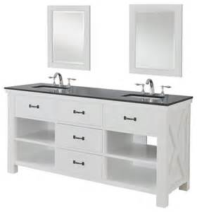 White Vanity Black Granite Top Xtraordinary Spa 70 Quot White Vanity Black Granite Top And