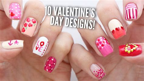 easy nail art on dailymotion 10 valentine s day nail art designs the ultimate guide