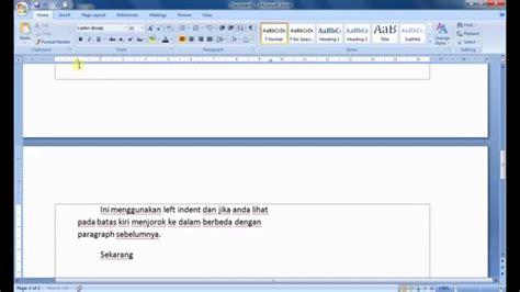youtube tutorial microsoft word 2007 tutorial ms word 2007 pengaturan identasi dan tabulasi