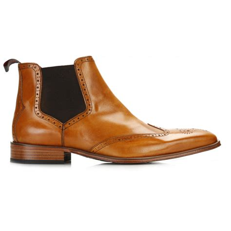 Brogue Chelsea Boots jeffery west mens tequila honey brogue chelsea boots jb52