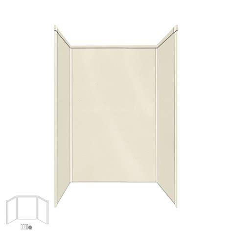 Fiberglass Shower Panels shop transolid decor biscuit buff fiberglass plastic