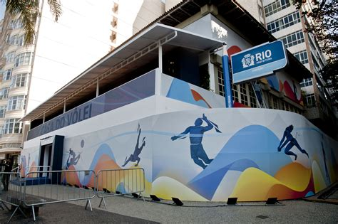volleyball house news detail volleyball house opening lights up copacabana fivb olympic game