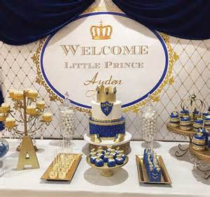 royal blue and gold baby shower decorations royal blue gold white prince themed printable by stylemeshabbychic