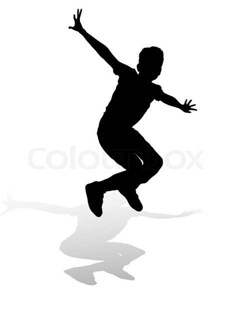 Silhouette Junge Sprung | Stock-Vektor | Colourbox
