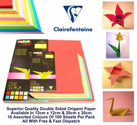 Origami Paper Ebay - origami paper sided multi colour folding craft