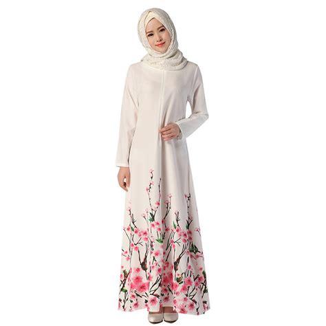 Maxi Flower Dress Busana Muslim adogirl muslim dress fashion floral print abaya in dubai