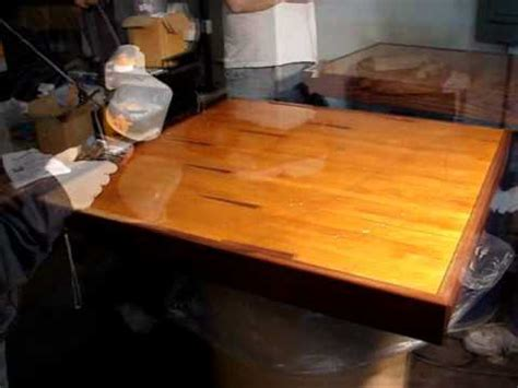 how to apply epoxy resin on table tops counter tops bar