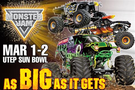 monster truck show el paso tx see monster jam trucks today in el paso