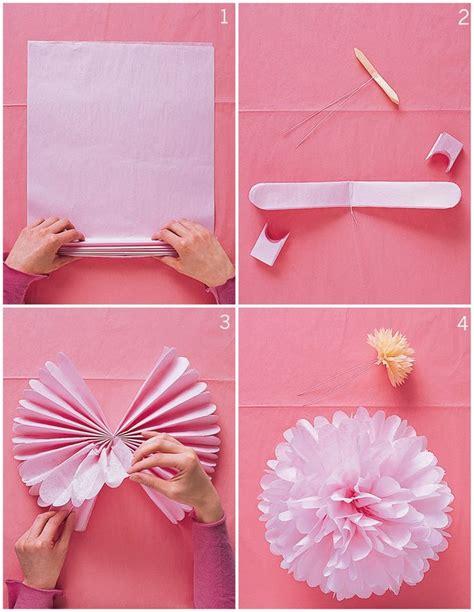 Pom Poms With Tissue Paper - diy tissue paper pom poms hello