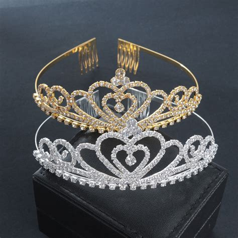 50 wedding hair styles with tiara golden wedding bridal tiara crown king diadem heart queen