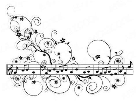 pattern vector material with sheet music tattoo