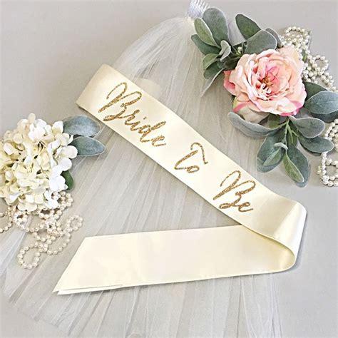 Bridal Shower Sash Selempang bachelorette sash bachelorette to be sash bachelorette veil gift