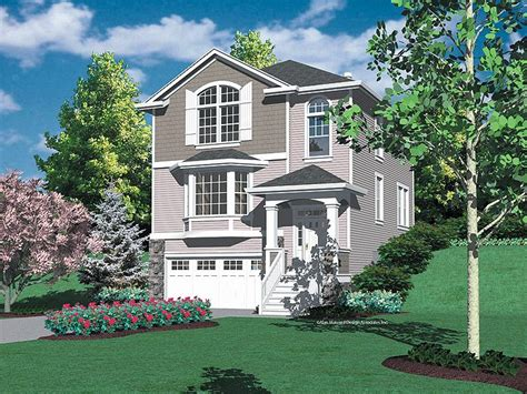 hillside house plans hillside garage plans