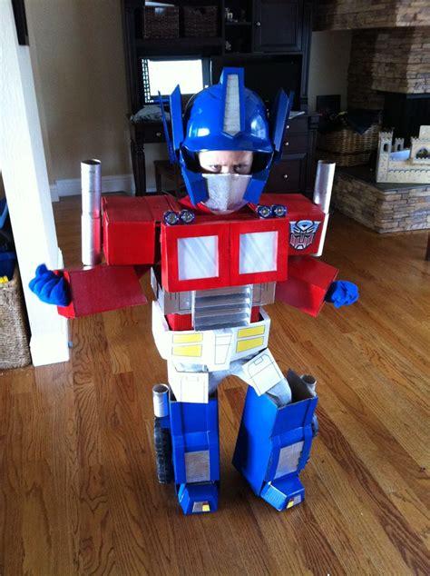 optimus prime  costume  steps  pictures