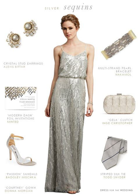 Silver Bridesmaid Dress by Silver Sequin Bridesmaid Dresses