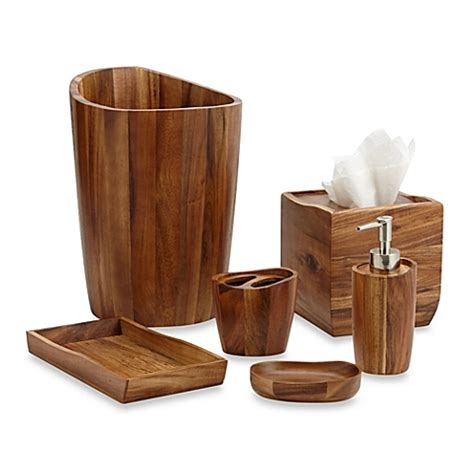 Bathroom Ensemble Sets Acacia Vanity Bathroom Accessories Www Bedbathandbeyond