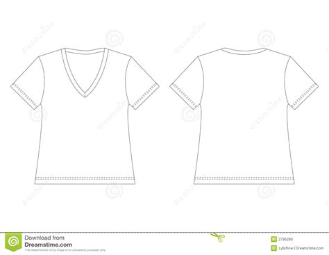 white v neck t shirt stock photo image 2795290