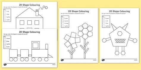shape pattern twinkl colour by 2d shapes colour 2d shapes 2d shapes colouring