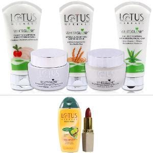 lotus professional skin care products lotus whiteglow skin care kit with lipshade shoo from