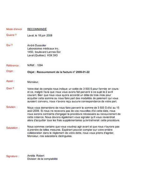 Sample Cover Letter: Exemple De Lettre De Recouvrement