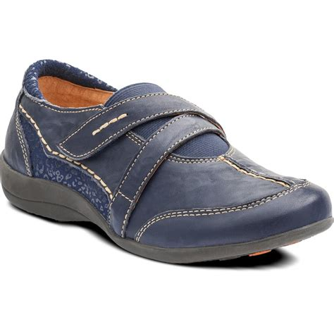 velcro shoes maple navy leather velcro shoe